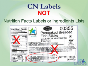 Child Nutrition Label, PFS and Recipes